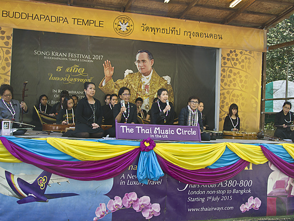 The wonderful Thai Music Circle performed on stage as visitors picnicked in the beautiful sunshine.