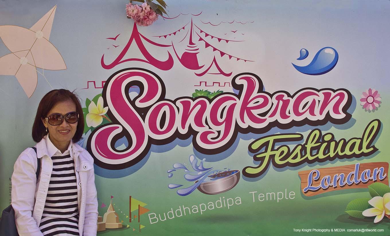 Annual Thai New Year celebrations at the London Thai Temple, Wimbledon.
