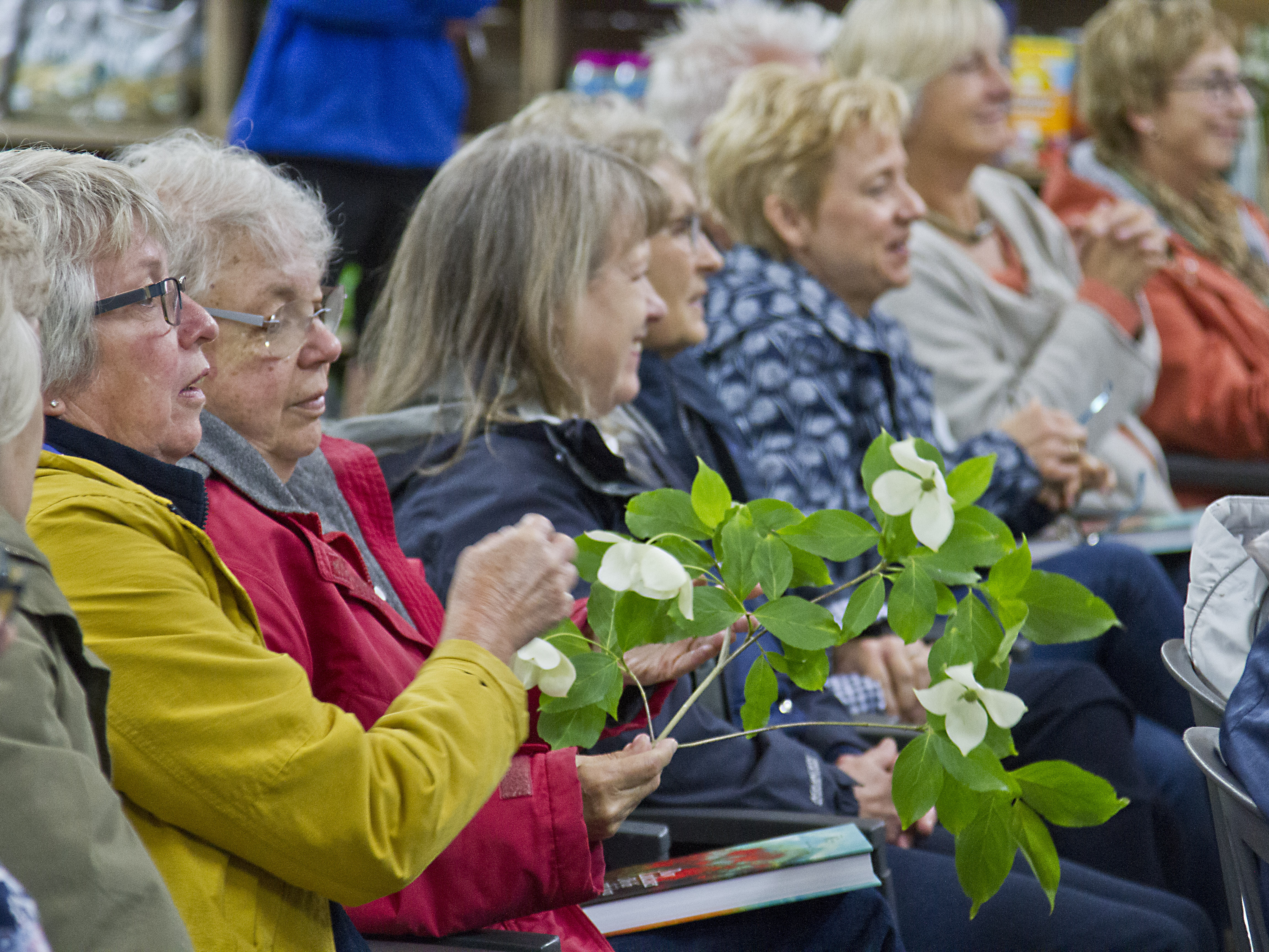 An opportunity to examine new plants and listen to Roy's anecdotes is totally captivating.