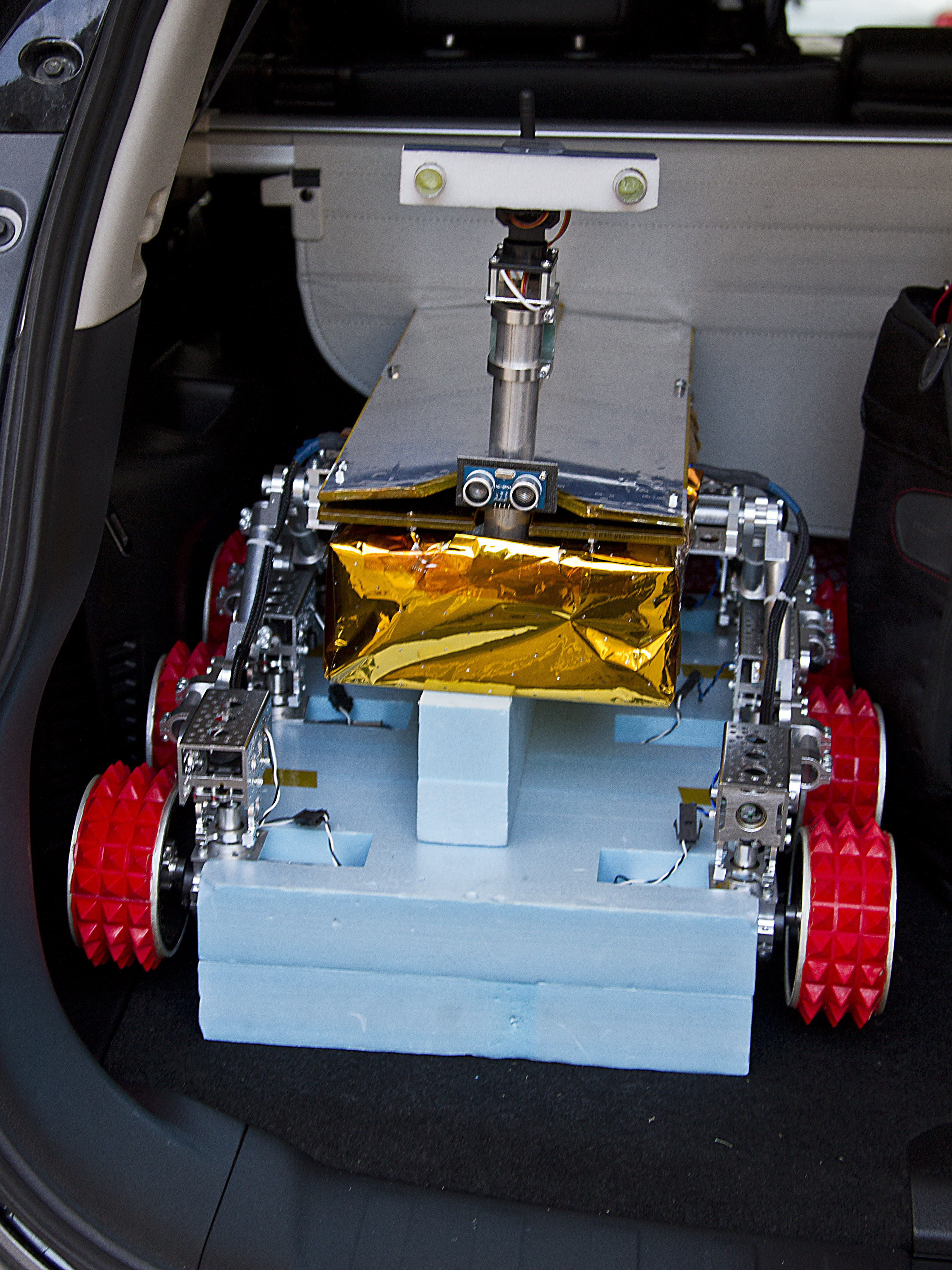 Model of the Mars Rover explorer to deployed on the planet's surface