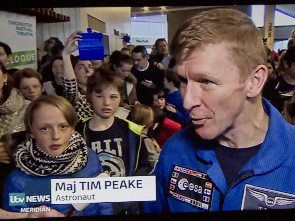 Meridian TV interview Tim Peake after the event.