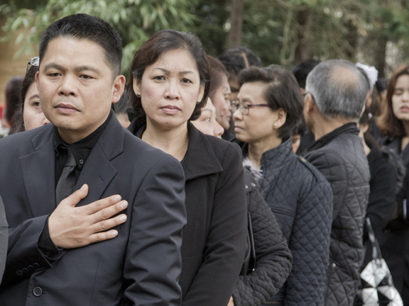 Mourners in Wimbledon