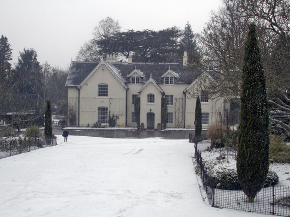 Jermyns House in the snow.