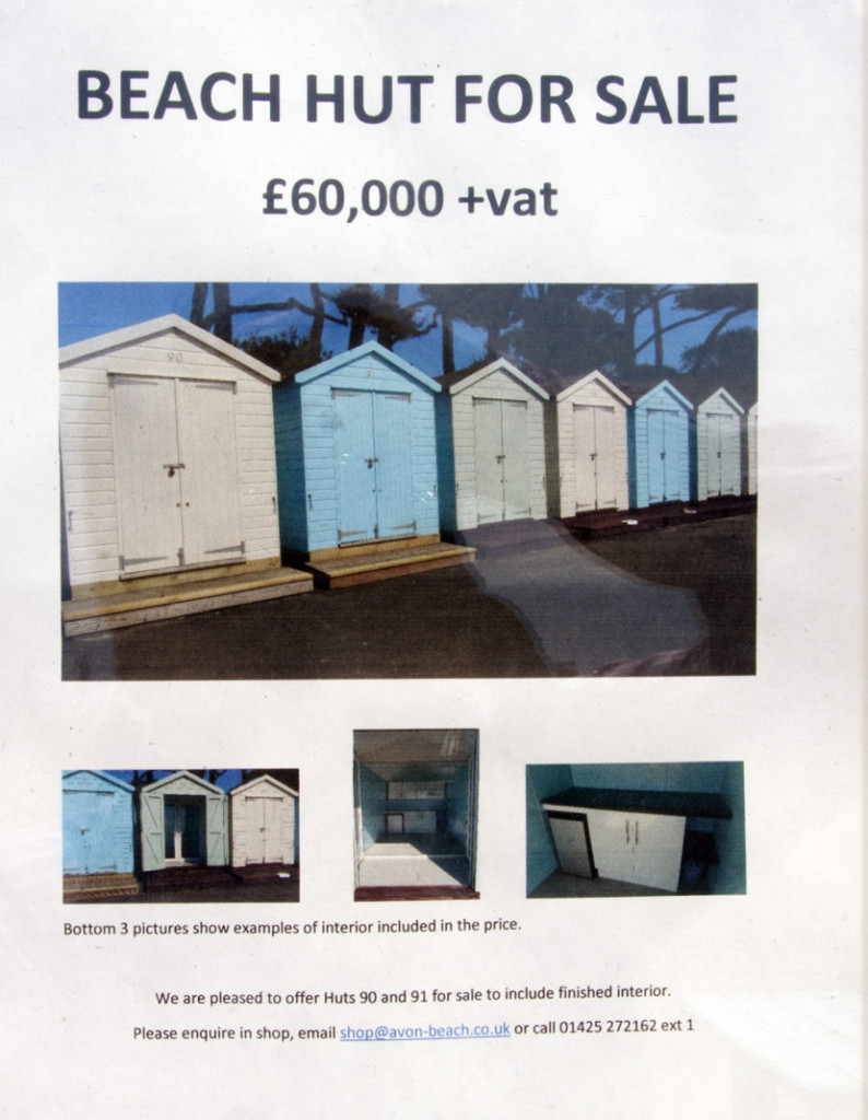 Even basic beach huts achieve five figure sums - easily.