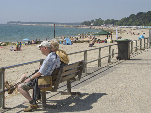 Avon Beach, popular with visitors of all ages.