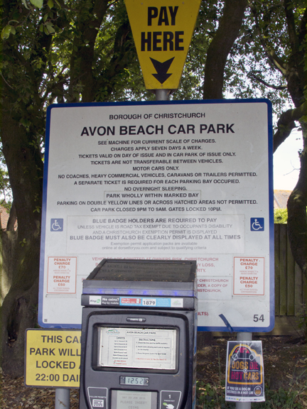 The popularity of the area is reflected in the car parking charges at Dorset's ' Gold Coast 'in spring / summer.