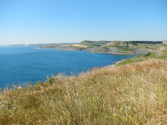 Unrestricted views towards Lulworth with it's cove and steep climb westwards out of the village.