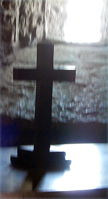The cross on the altar of St Albans Chapel, Worth Mataravers.