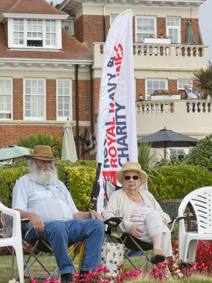 This couple from the West Country were ready for a great show.