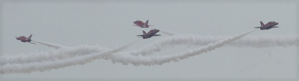These amazing manoeuvres held the collective breath as they closed on each other with split second timing.