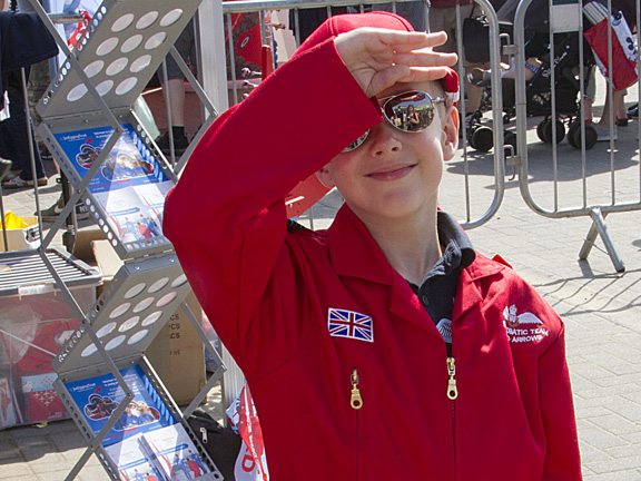 Many young fans also dress in flying suits in tribute to their heroes.