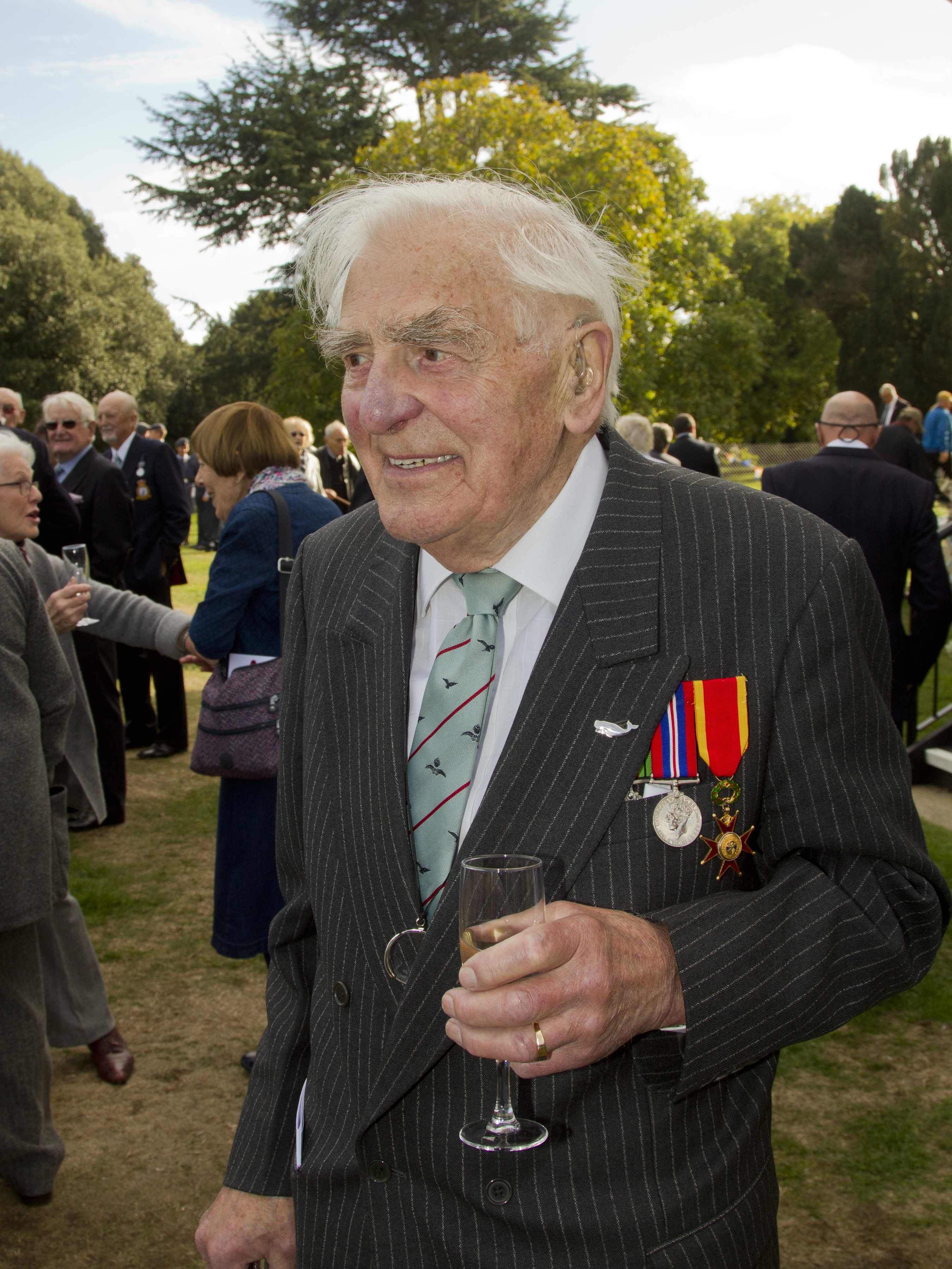 Captain Anthony Brindle KSG remembers being taught to fly by Mary's husband Don Ellis