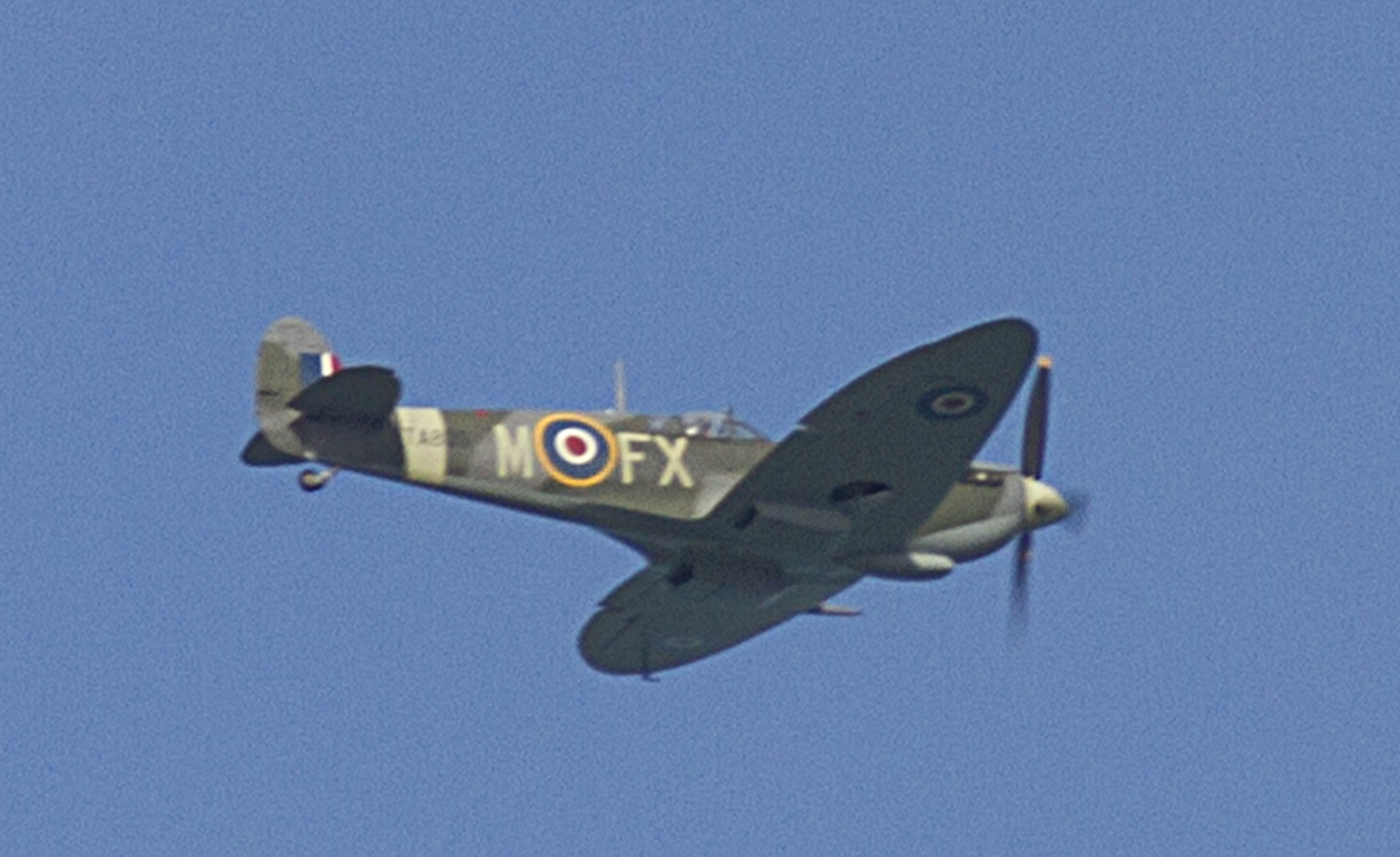 Dan Griffiths in his Spitfire from Biggin Hill