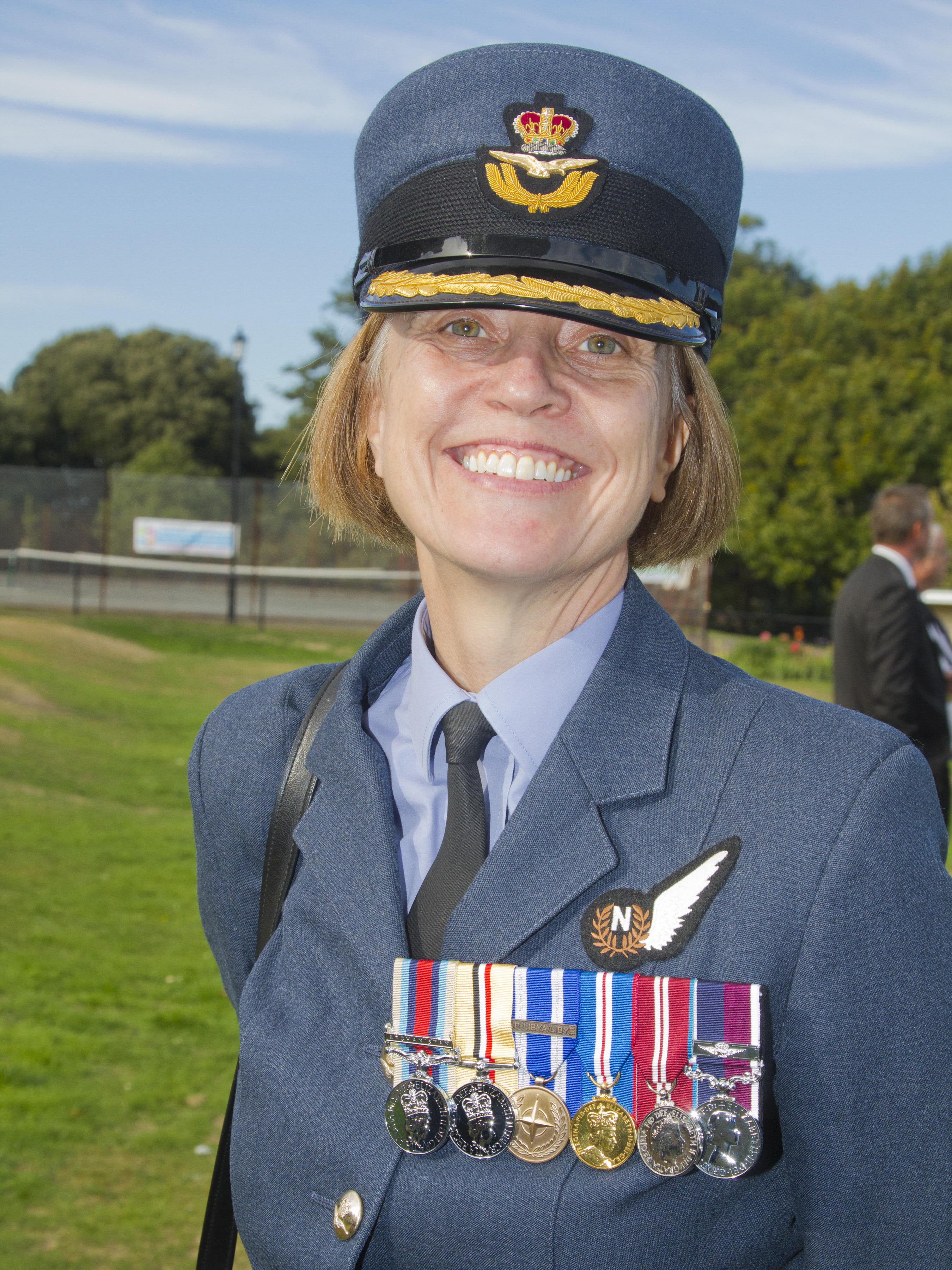Group Captain Anne-Marie Houghton, who shared here memories.