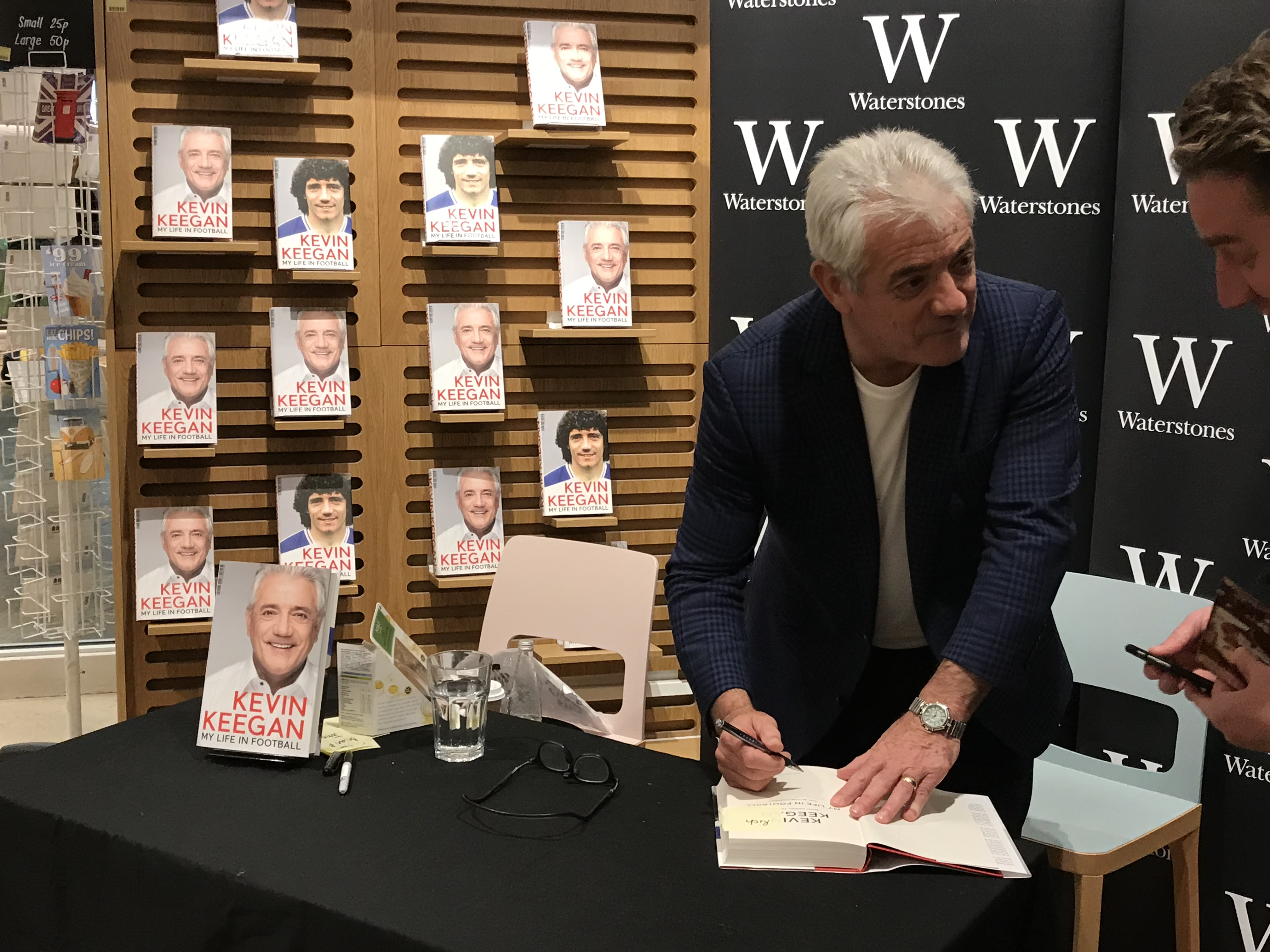Kevin book signing Waterstones, Southampton