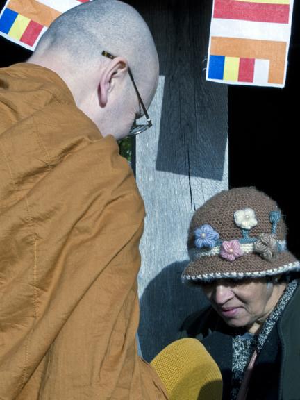 Distrinuting Alms To Buddhists Monks Tony Knight On Line