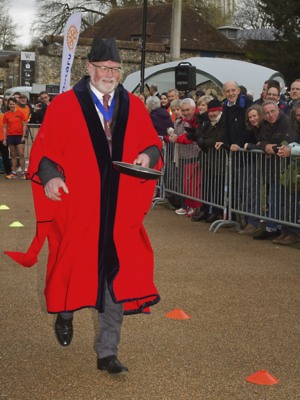 Former mayor Cllr. Dominick Hiscock at speed.