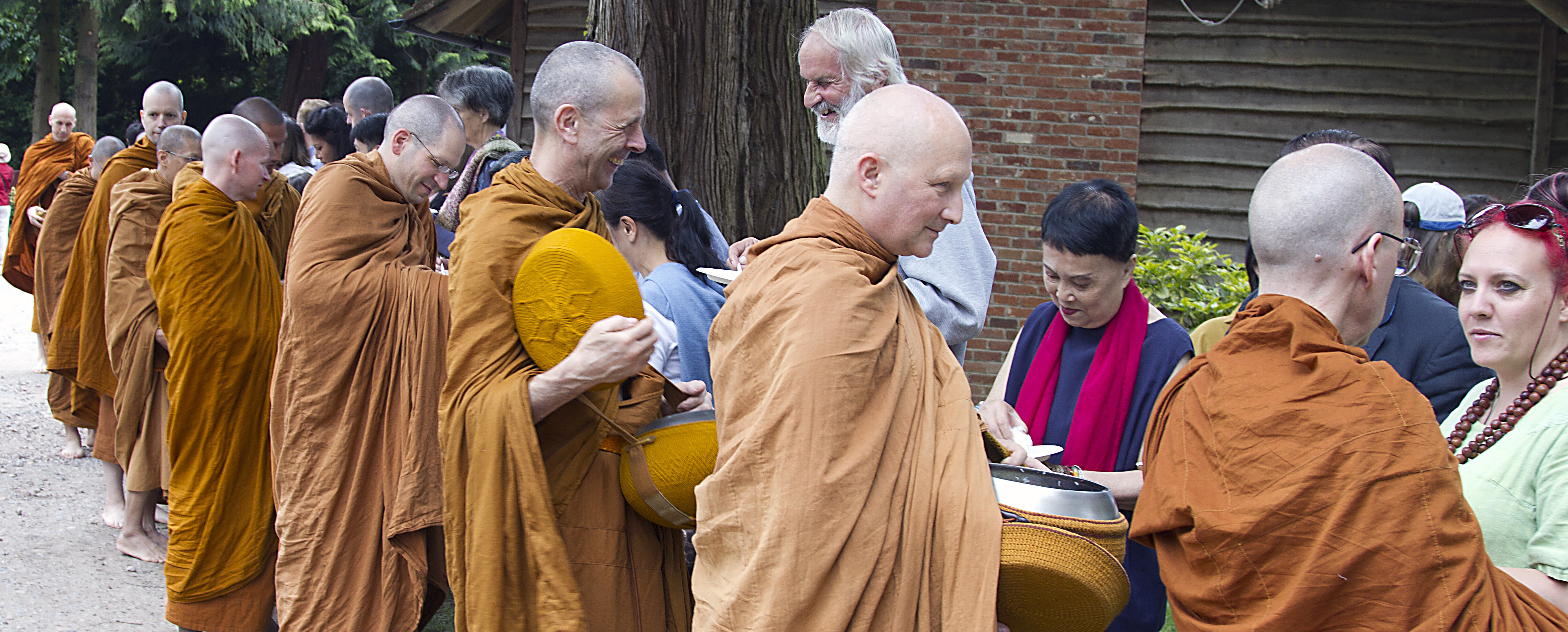 A happy day at Chithurst celebrating the monastery's 40th anniversary.